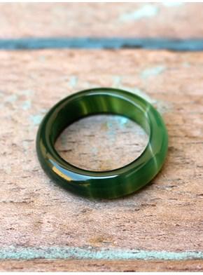 Anel Pedra Ágata Verde