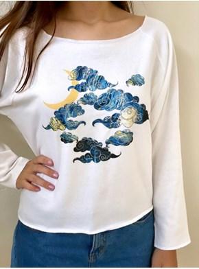 Blusa Manga Longa Nuvem Van Gogh