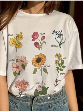 Camiseta Botânica - Branca