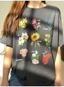 Camiseta Botânica - Chumbo