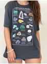 Camiseta Cristais e Pedras - Chumbo