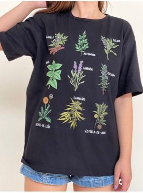 Camiseta Ervas de Bruxa - Preta