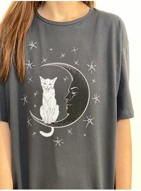 Camiseta Gato na Lua