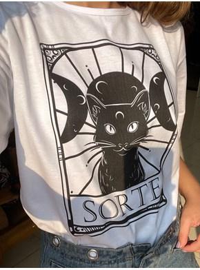 Camiseta Gato Preto da Sorte