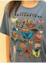 Camiseta Lepidoptera - Azul