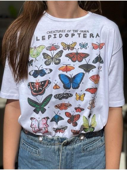 Camiseta Lepidoptera - Branca