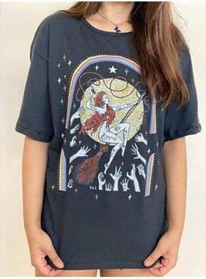 Camiseta Mulheres que Voam - Chumbo