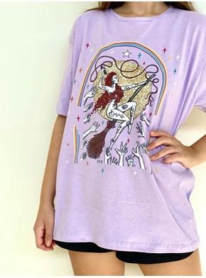 Camiseta Mulheres que Voam - Lilás