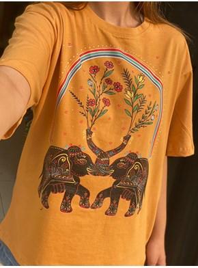 Camiseta Prosperidade - Caramelo