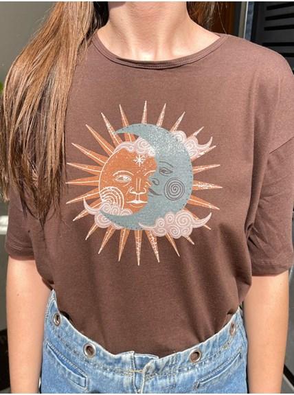Camiseta Sol e Lua Vintage