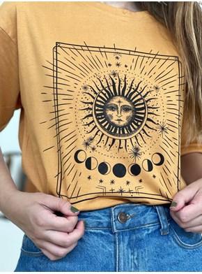 Camiseta Solar - Caramelo