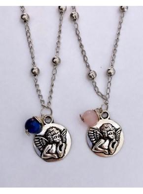Colar Cupido com Pedra Amuleto