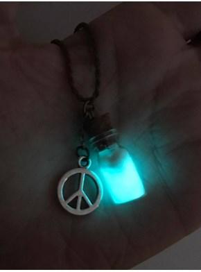 Colar Encantado Energia da Paz Frasco - Brilha no Escuro
