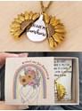 Colar Girassol - Relicário (Você é meu raio de Sol) - Florescer