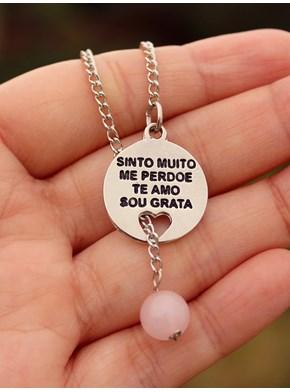 Colar Ho´oponopono - Quartzo Rosa