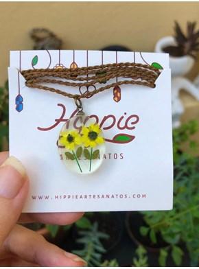 Colar Jardim de Girassol - 2 flores