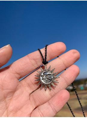 Colar Sol e Lua Alma Gêmea Prata