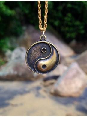 Colar Yin Yang Bronze