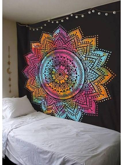 Colcha Indiana Casal Mandala Tie Dye
