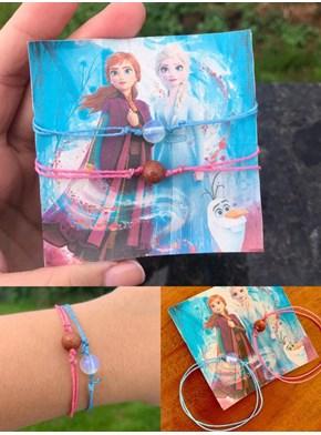 Conjunto 2 Pulseiras Frozen: Elsa + Anna