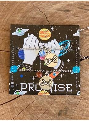 Conjunto 2 Pulseiras Promise - Sol e Lua