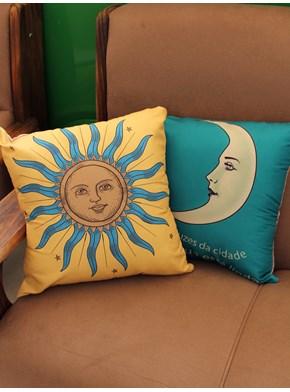 Conjunto com 2 capas de Almofada - Sol e Lua