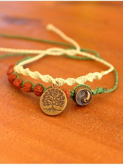 Conjunto com 2 pulseiras Balance of Nature
