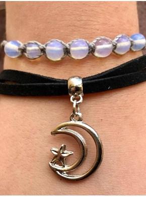 Conjunto com 2 pulseiras Pedra da Lua