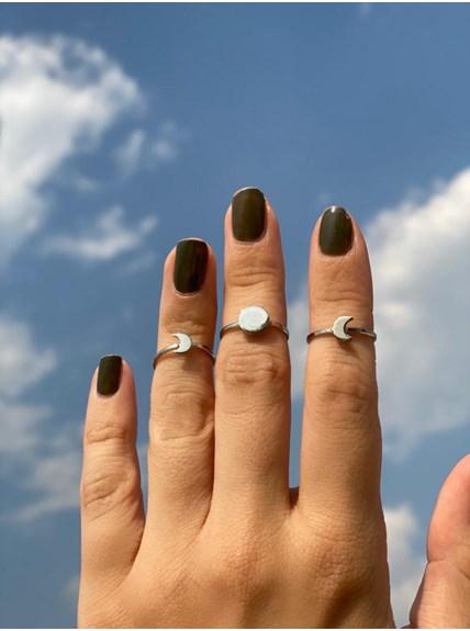 Conjunto com 3 anéis Fases da Lua