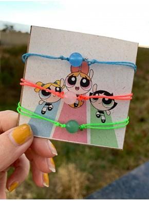 Conjunto com 3 pulseiras - Meninas Super Poderosas