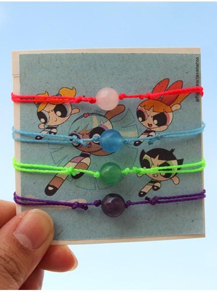 Conjunto com 4 pulseiras - Meninas Super Poderosas