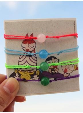 Conjunto com 4 pulseiras - Meninas Super Poderosas + Macaco Louco