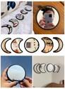Conjunto com Espelhos Fases da Lua