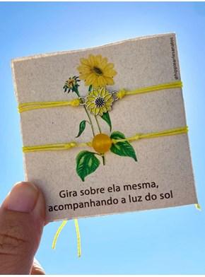 Conjunto de Pulseiras Girassol Esmaltado