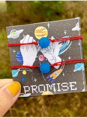 Conjunto de Pulseiras Promise Akai Ito - Brilha no Escuro