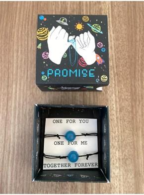 Conjunto de Pulseiras Promise - Brilha no Escuro - com embalagem