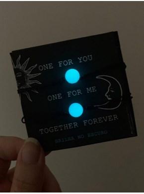 Conjunto de Pulseiras Together Forever - Brilha no Escuro