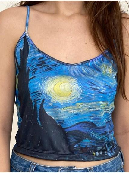 Cropped Alça - A Noite Estrelada - Van Gogh