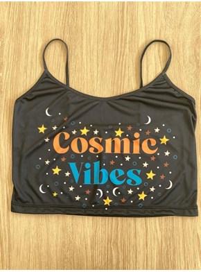Cropped Alça Cosmic Vibes