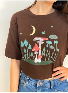 Cropped Comfy Cogumelo Astral