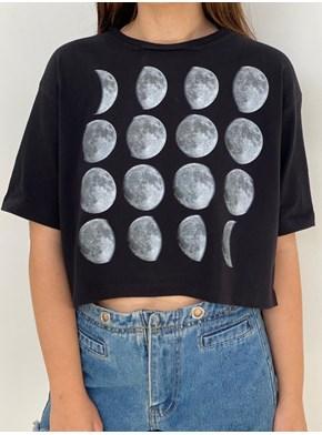 Cropped Comfy Fases da Lua