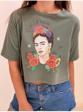 Cropped Comfy Frida Kahlo