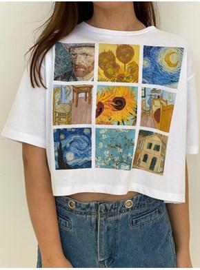 Cropped Comfy Van Gogh - Branca