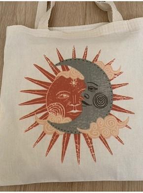 Ecobag Sol e Lua Vintage