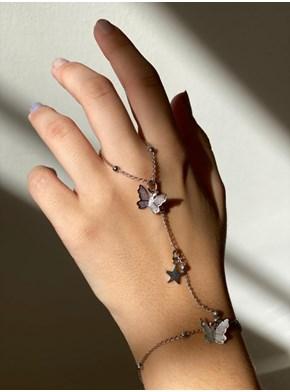 Hand Chain Borboletas e Estrela Fly