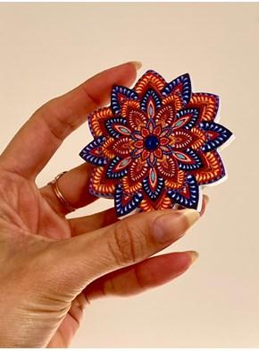Incensário Mandala Cores - Com imã