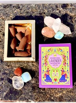 Incenso Cone Golden India - Lavanda
