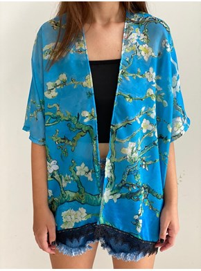 Kimono Amendoeira em Flor - Van Gogh