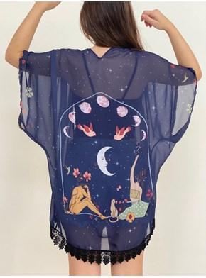 Kimono Meninas Flutuantes