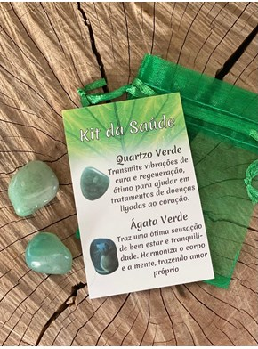 Kit Saúde - Quartzo verde e Ágata verde